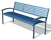 Arcadia 6' Bench with Back and Arms ARBA6